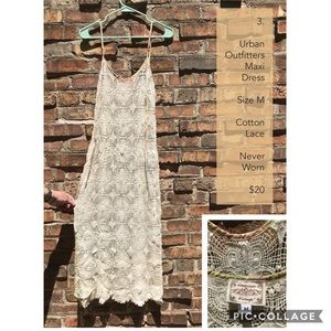 Urban outfitters lace maxi dress